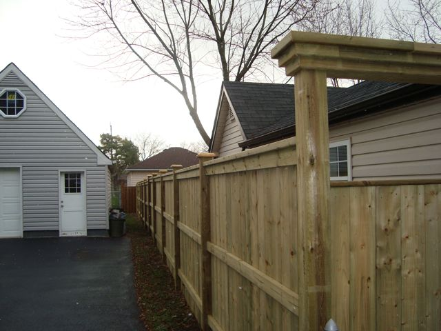 5 215 5 Fence With Arbor Decks And Fences By Ryan Windsor