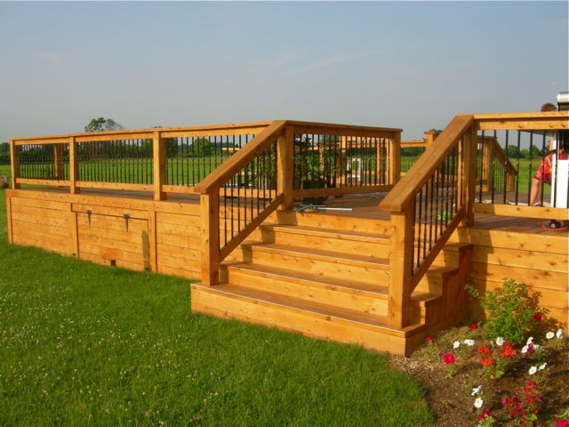 Cedar stained deck