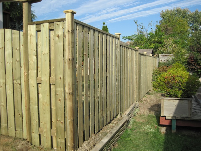 Windsor pressure treated semi-privacy fence