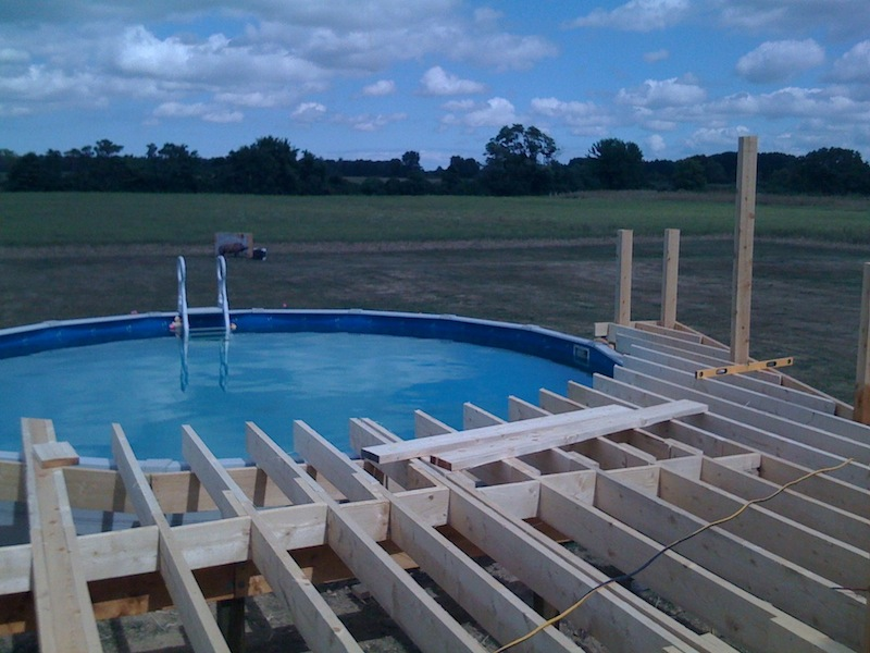 Pool deck framing