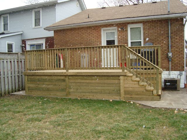 Windsor pressure treated deck with skirting
