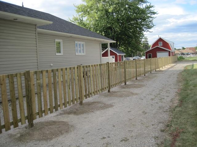 4' wood fence