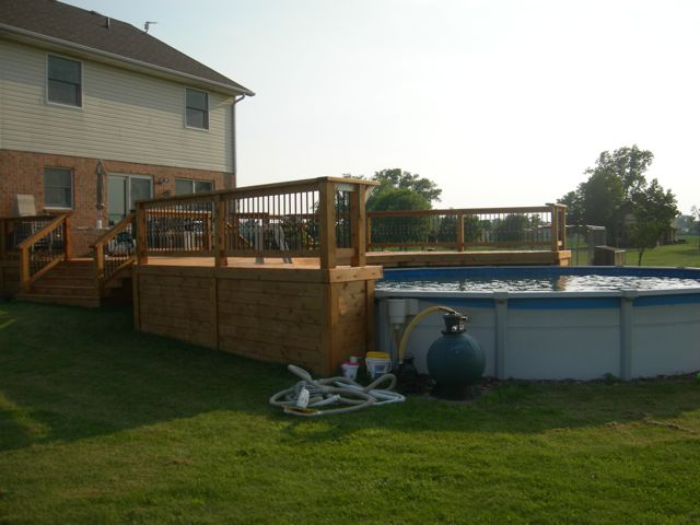 Big pool deck