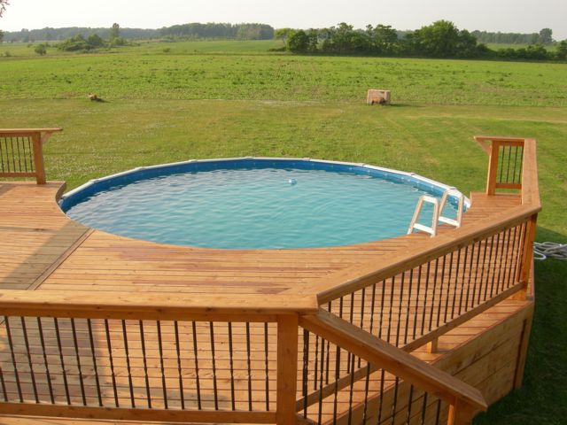 Cabot stained pool deck