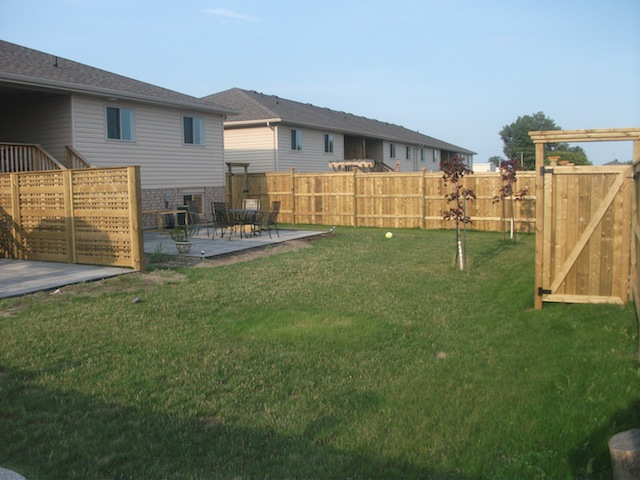 Belle River pressure treated fence