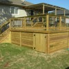 Multi-level pressure treated deck