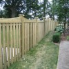 Emeryville scalloped wood fence