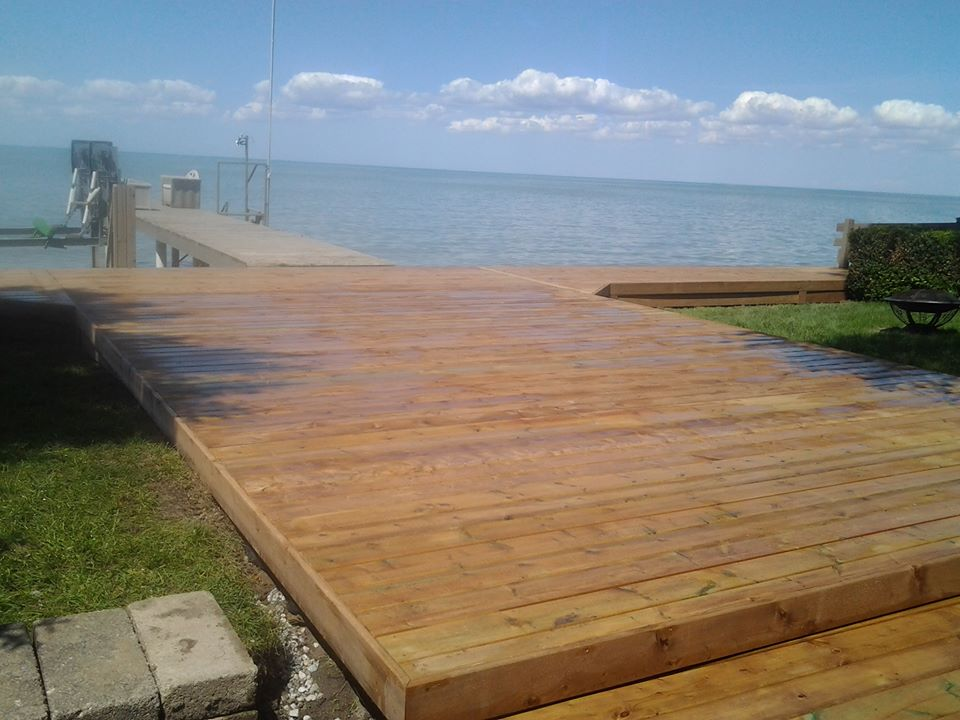 pressure treated dock in belle river