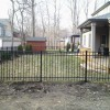 Black aluminum fence in lasalle on