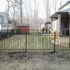 Black aluminum fence in lasalle on