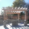 Cedar Pergola with stone collums