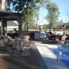 Timber tech deck with outdoor kitchen