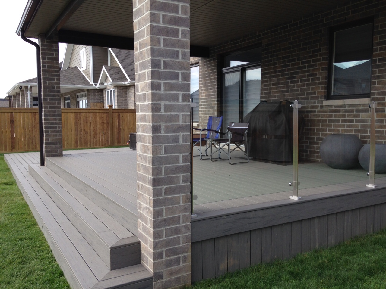timber tech and glass railings