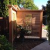 cedar privacy wall tongue and groove