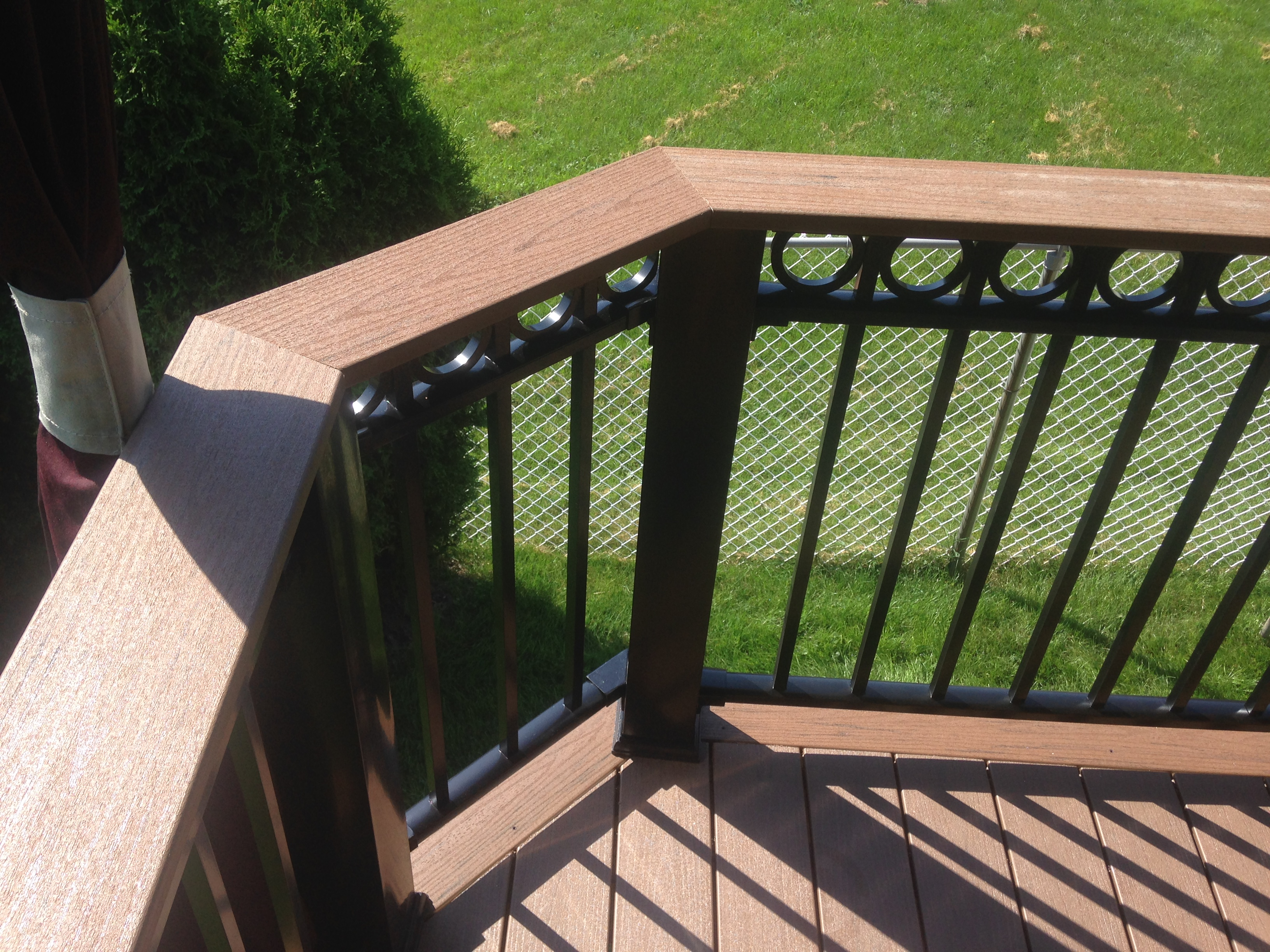 aluminum timber tech railing