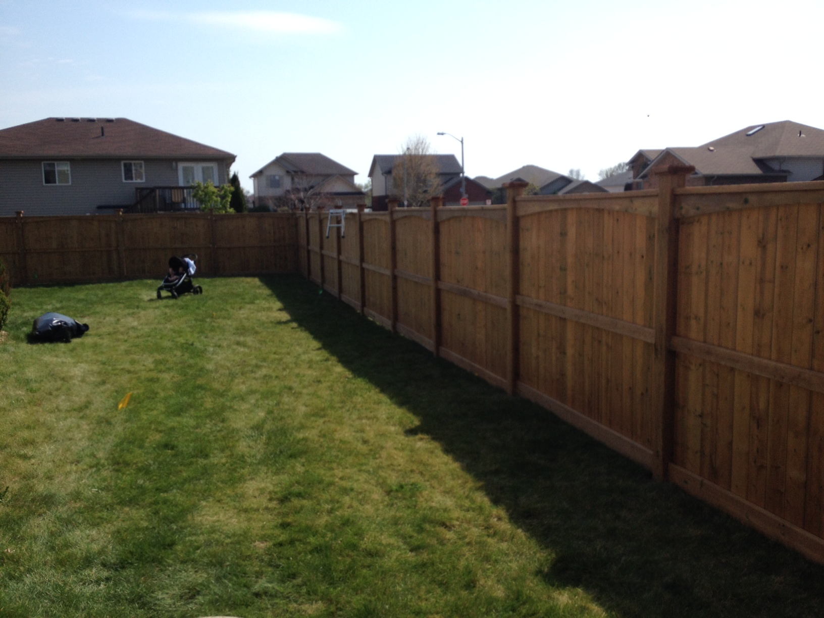 Sienna pressure treated scalloped fence in lasalle
