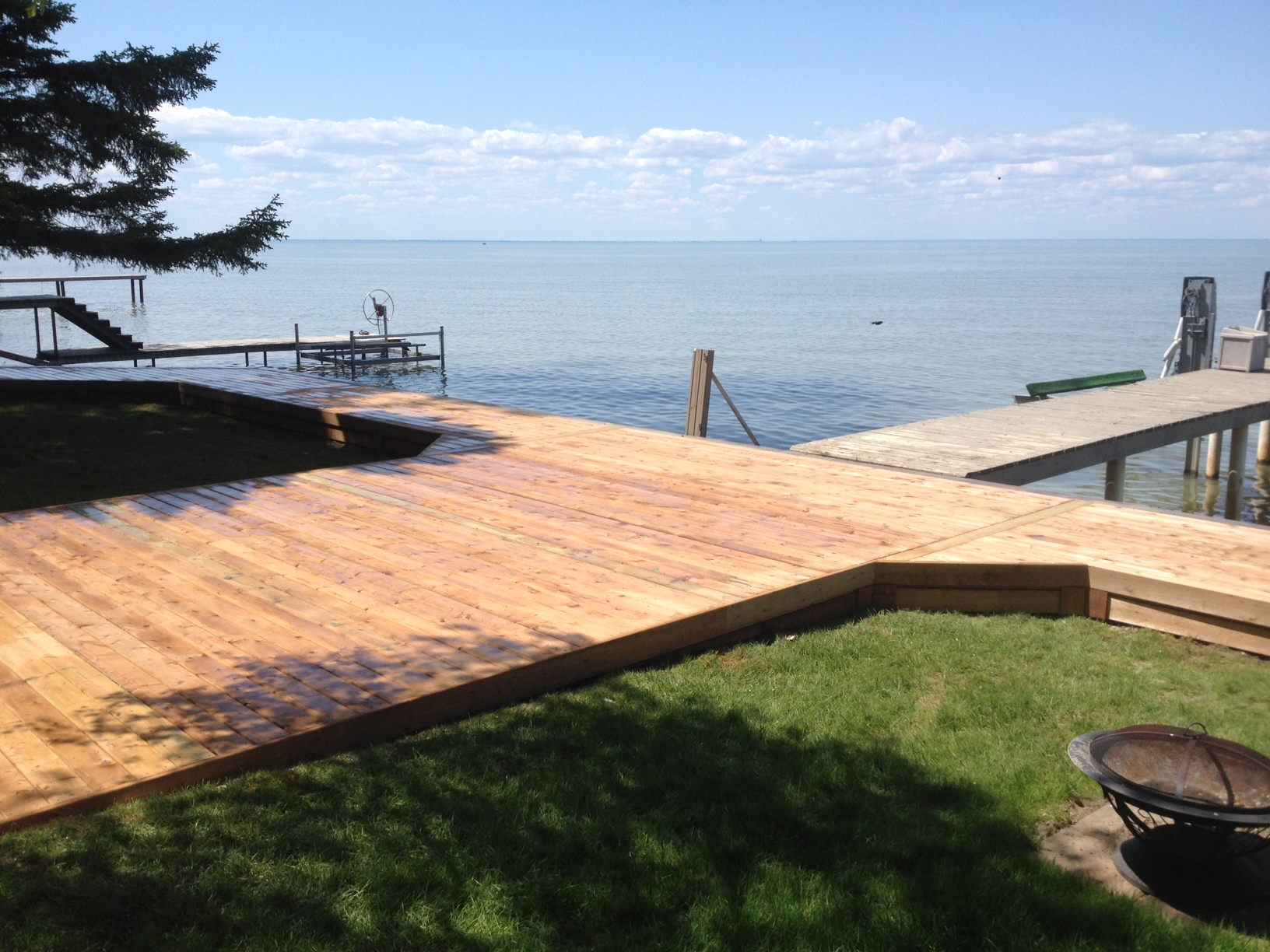 Pressure treated deck belle river on