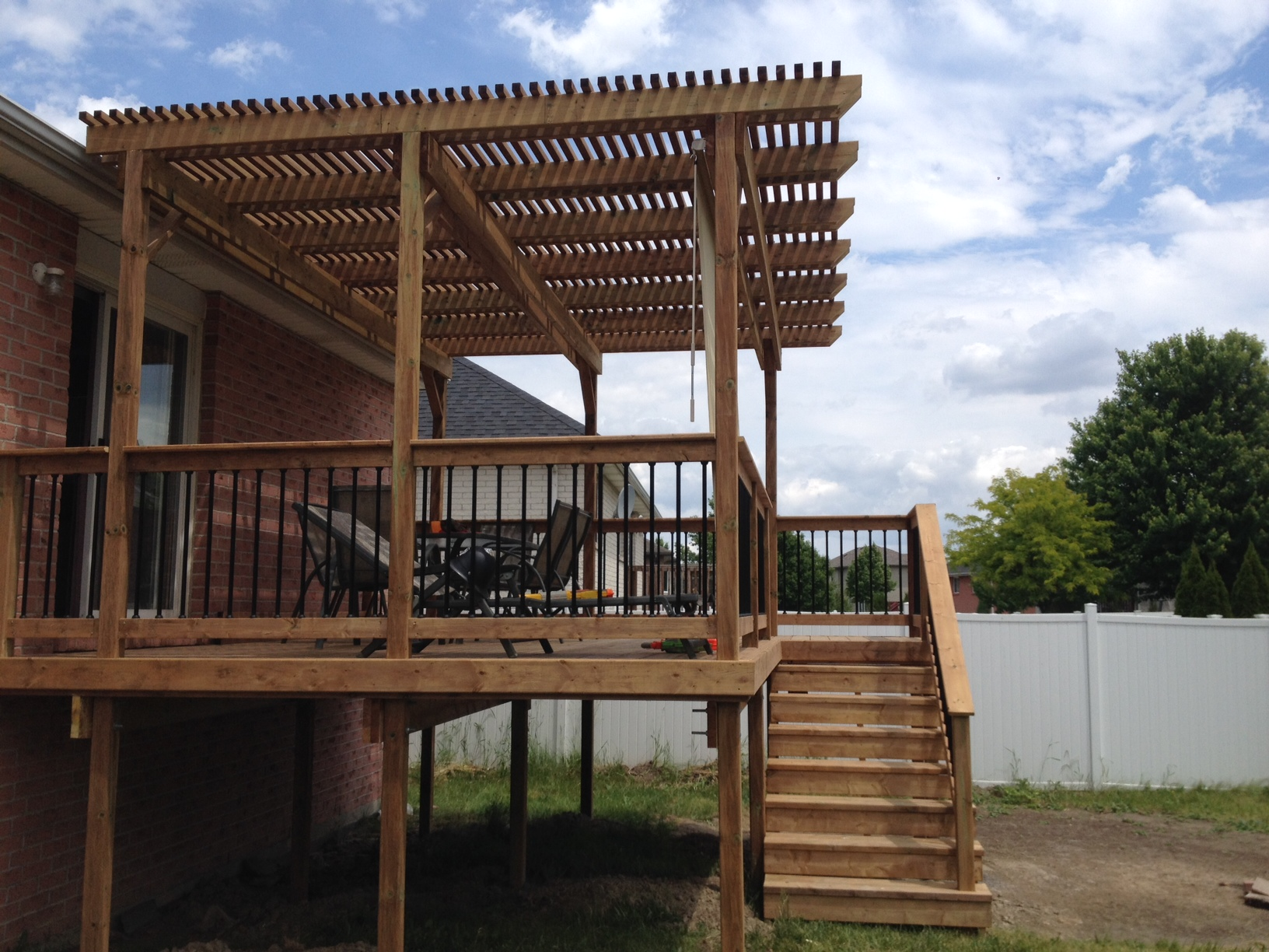 Pressure treated deck and pergola in windsor