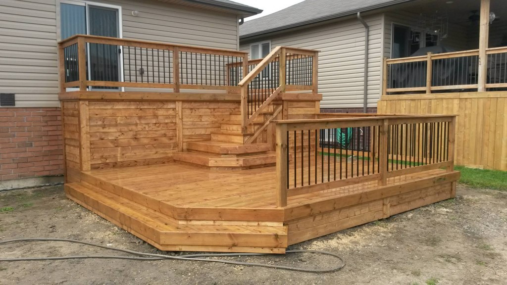 Decks windsor deck builders contractors composite for Brown treated deck boards