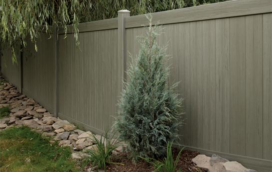Arbor Blend vinyl fence