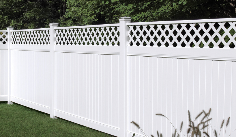 White Lattice Vinyl Fence Decks And Fences By Ryan