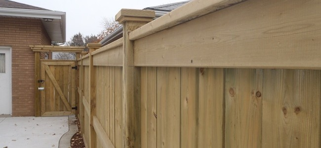 wood privacy fence in windsor on