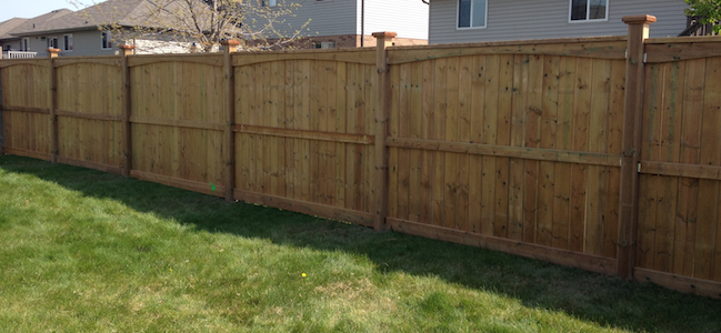 scalloped wood fence